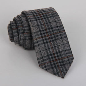 wool tie skinny 6 cm floral necktie high fashion plaid ties foreosegal-eosegal