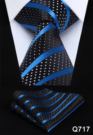 "Pocket Square Classic Party Wedding Dot Striped 3.4"" Silk Fashion Wedding Menseosegal-eosegal"