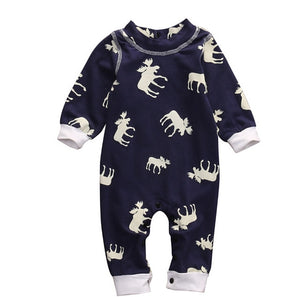 Cute Toddler Infant Baby Girl Boy Xmas Clothes Long Sleeve Romper Jumpsuit Pajamas XMAS Clothing Warm Outfits AU-eosegal