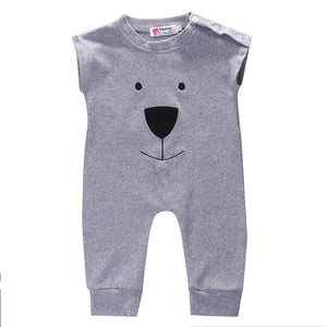 Cute Newborn Baby Girl Boy Bear Fleece Rompers Playsuit Jumpers Outfits-eosegal
