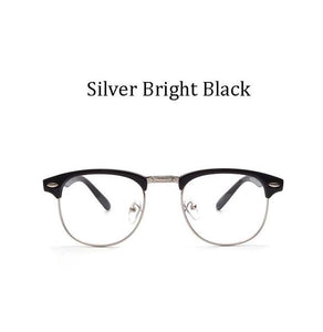2017 Retro Brand Men Half Frame Fashion Glasses with Clear Lenses Maneosegal-eosegal