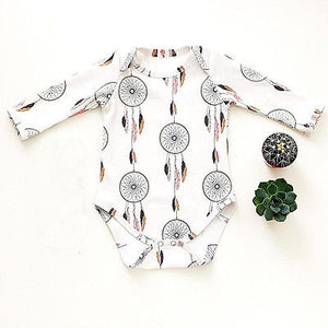 Newborn Baby Boy Print Jumpsuit Fashion Baby Girl Bodysuit Toddler Dream Catcher Clothes Kids Autumn Outfits Set-eosegal