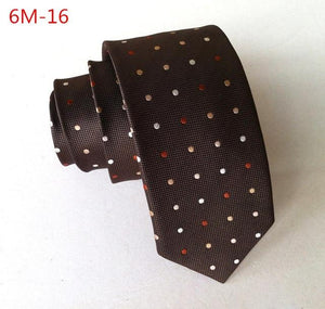 New Top Silk Necktie 2016 Men Slim Neck Ties 6cm 24eosegal-eosegal