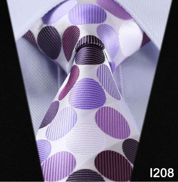 "Paisley Check Dot 3.4"" 100%Silk Wedding Jacquard Woven Men Classic Man'seosegal-eosegal"