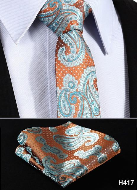 "Check Floral Paisley Stripe 2.75"" 100%Silk Wedding Jacquard Woven Men Tie Necktieeosegal-eosegal"