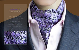 2017 new Fashion men necktie Polka Dot 100% Silk Ascot Cravat, Casualeosegal-eosegal
