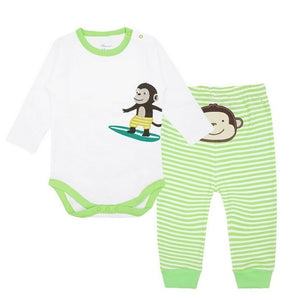 2pcs Baby Girls Boys Clothes Set Long Sleeve Rompers And Pants Roupa Infantil Menina Menino Bebe Newborn Clothing China KF092-eosegal