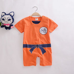 Dragon Ball Baby Rompers Newborn Baby Boys Clothes SON GOKU Toddler Jumpsuit Bebes Halloween Costumes For Baby Boy Girl Clothing-eosegal