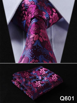 "Pocket Square Classic Party Wedding Floral 3.4"" Silk Wedding Mens Extra Longeosegal-eosegal"