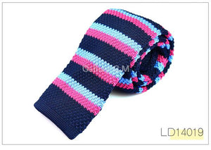 Fashion Mens Knit Ties Colorful New 6cm Narrow Width Knitted Skinny Necktieseosegal-eosegal