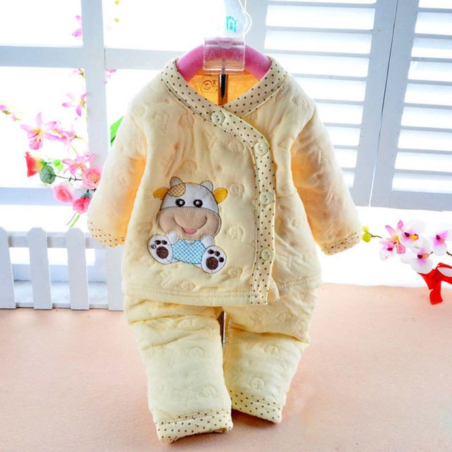 Newborn Baby Girls Clothes Winter Set Thermal Underwear Clothes Babyworks Infant Long Sleeve Clothes Babies Set CL0712-eosegal
