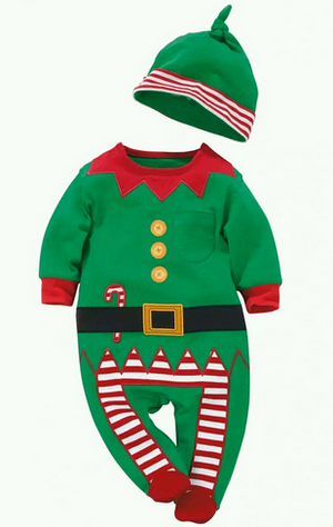 Christmas Gifts Baby rompers 2016 One-piece Costumes kids long sleeve spring autumn baby wear clothing set top+headband or hat-eosegal