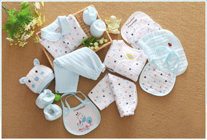 18 piece/set 100% cotton newborn baby boy clothes infant suit baby girl clothes outfits pants baby clothing hat bib ropa de bebe-eosegal