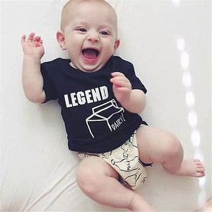 New 2016 summer Baby Kids Set Cotton T Shirt shorts Twinset short Sleeve Children Clothing Sets-eosegal