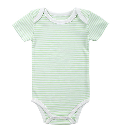 New 2016 Baby Fashion Newborn Baby Girls Boy Short Sleeve Pure Solid Summer Body Rompers Outfits Clothes-eosegal