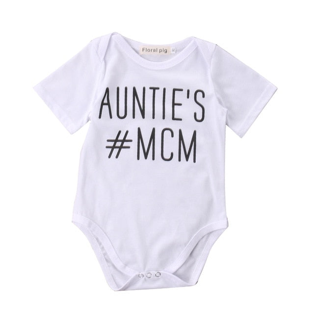 Auntie's MCM Newborn Baby boys Girls Game Bodysuits onesie Infant Babies Kids Cute Bodysuit one-pieces Outfits Kids Clothing-eosegal