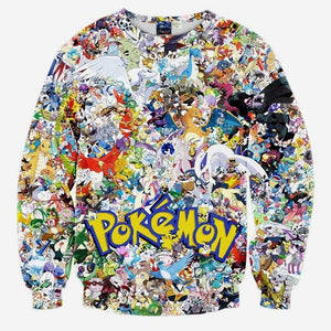 Mr.1991INC New Arrivals Men/boy 3d sweatshirt print Japanese Anime characters small animalseosegal-eosegal
