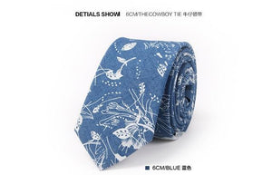 New Brand Mens Ties 100% Cotton Slim Skinny Neck Tie for Meneosegal-eosegal