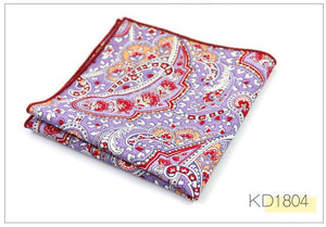 Brand Casual 100% Cotton Handkerchiefs for Men Cashew Floral Printed Pocket Squareeosegal-eosegal