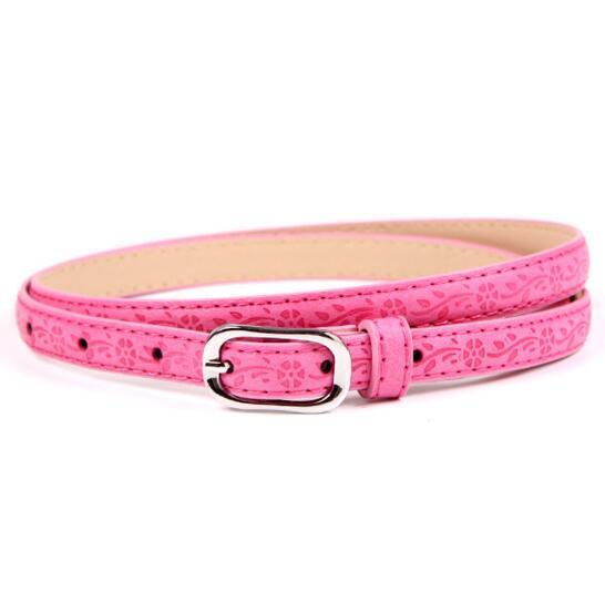 Newest Retro Fashion Slim Printed Candy Color Belt Fashion Accessories Female For Women Lady Waist Decoration Waistband Straps-eosegal