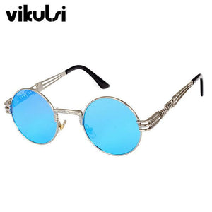 2017 Retro Glasses Gold Glasses Frames Eyeglasses For Women Vintage Steampunk Roundeosegal-eosegal