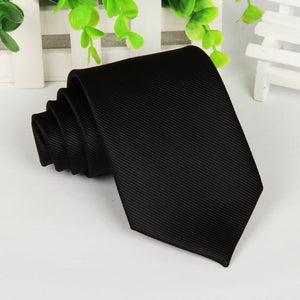 20 style brand Polyester neck tie for men Solid black corbatas 8eosegal-eosegal