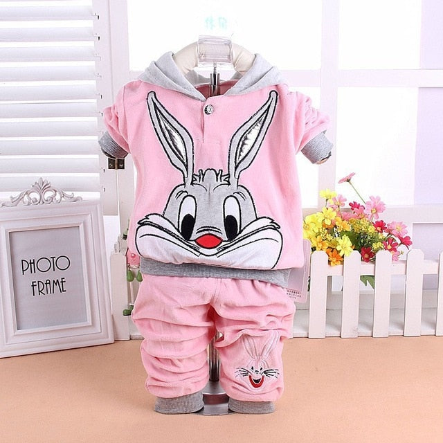 New 2016 Baby Clothing Set Cartoon Kids Apparel Boys Girls Children Hoodies And Pant Children's Clothing Sets For Autumn-eosegal