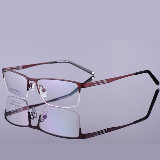 Spectacle Frame Eyeglasses Men Nerd Titanium Alloy Computer Optical Tag Brand Eyeeosegal-eosegal