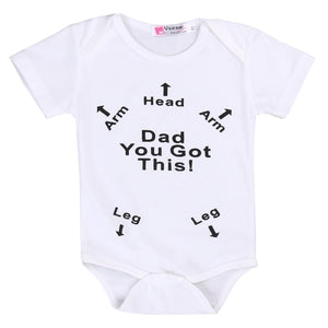 Kids Baby Boy Girl Infant Summer Short Sleeve Romper Arrow Printed Jumpsuit Cotton Clothes Outfit-eosegal