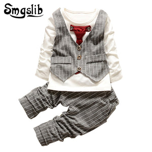 Baby Boys clothes set fashion infant clothing baby girl suits formal gentleman long sleeve Necktie Wedding Birthday Outfits-eosegal