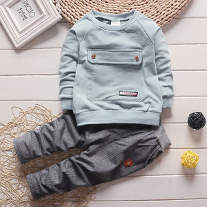 2016 Fashion Autumn Baby Boy Girl Clothes Long Sleeve Top + Pants 2pcs Sport Suit Baby Clothing Set Newborn Infant Clothing-eosegal