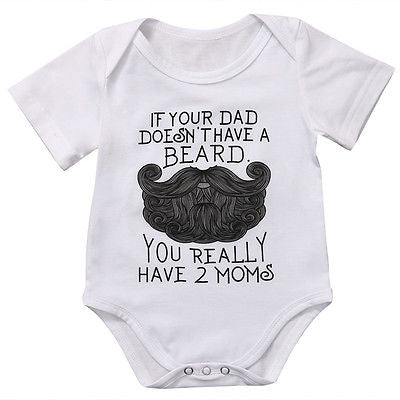 Summer Newborn Baby Clothes Short Sleeve Cotton Romper Infant Boy Girls Moustache and Lip Jumpsuit Outfits Hot-eosegal