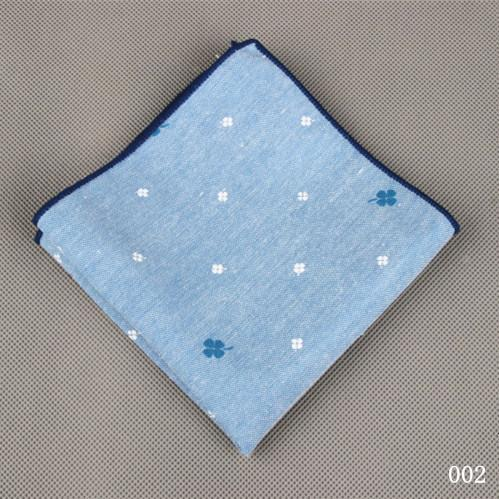 Men's Cotton Pocket Square Western Style Floral Handkerchief for Suit Pocketeosegal-eosegal