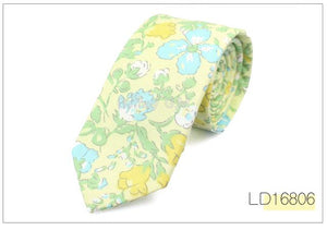Brand Cotton Floral Ties For Men Suit Skinny Mens Ties Gravatas Slimeosegal-eosegal