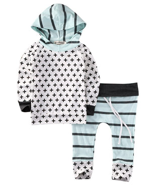 Baby Boys Girls Kid Long Sleeve Hoodie Pants Infant Outfits Set Casual Clothes