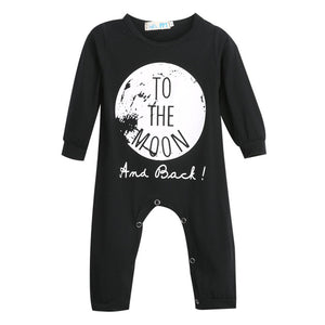 New Baby Girls Boys Long Sleeve Romper Jumpsuit One-pieces No Sleep to the Moon-eosegal