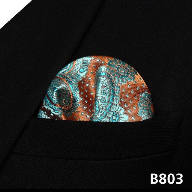 Pocket Square Classic Party Wedding Paisley Floral Men Silk Pocket Square Hankyeosegal-eosegal