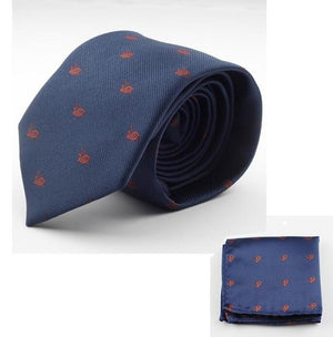 New Silk Tie Set 7cm Tie Men Hanky Handkerchief And Necktieeosegal-eosegal