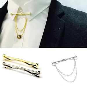 2017 New Collar Pin Tie Clips Men Metal Silver Tone Simpleeosegal-eosegal