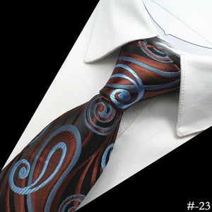 Silk Men Tie 8cm Plaid Paisley Neck Ties for Men Necktieeosegal-eosegal