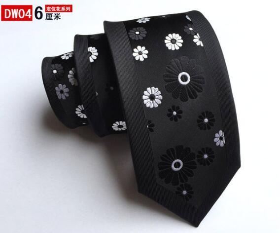 New Arrivel Skinny Tie Man Fashion Floral Neckties Hombre 6 cmeosegal-eosegal
