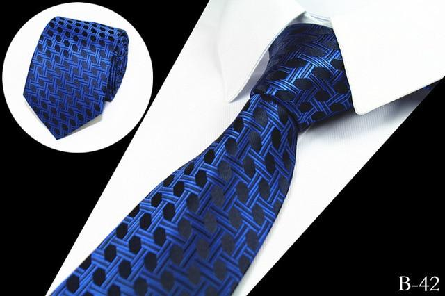 New Slim Luxury Tie 100% Silk Jacquard Woven Ties For Meneosegal-eosegal