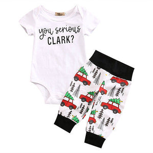 Summer 2017 Cute Newborn Infant Baby Boy Girl Clothes Romper Tops +Long Pants 2PCS Outfit Set-eosegal