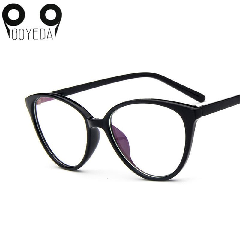 Brand Fashion Women Myopia Eye Glasses Frame Cat's Eye Optical Glasseseosegal-eosegal