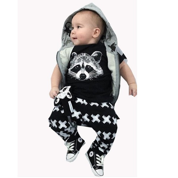 2017 New summer baby boys girls clothes t-shirt + pants sport suit infant clothing newborn clothes vetement garcon-eosegal
