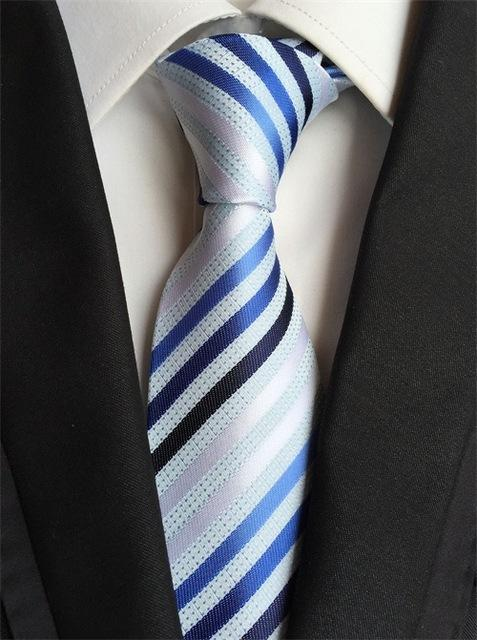Striped Neck Ties for Mens Blue & Red 8cm Wide Necktieseosegal-eosegal
