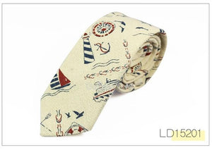 New Designer Print Ties Casual Narrow Necktie Ties for Men Hip-hop Partyeosegal-eosegal