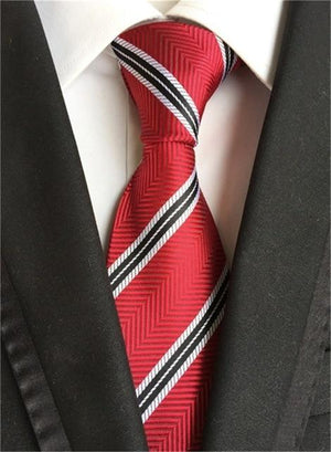New Fashion Tie Striped Neck Ties for Men Polyester 8cm Wideeosegal-eosegal