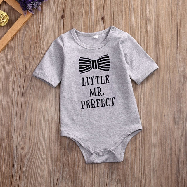Newborn Toddler Infantil Baby Girls Baby Boys Kids Romper Bow Printed Playsuit Jumpsuit Clothing Outfit Sets-eosegal