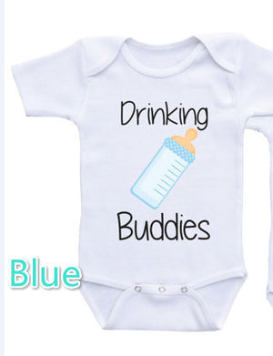 Funny Baby Bodysuits Newborn Summer Jumpsuit Hipster T-shirts White Onesie With Letters Unique Design Baby Outfits Ropa bebes X-eosegal
